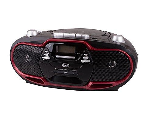 Trevi CMP-574 - Boombox CD MP3 USB Kassetten Recorder UKW/MW-Radio – Rot