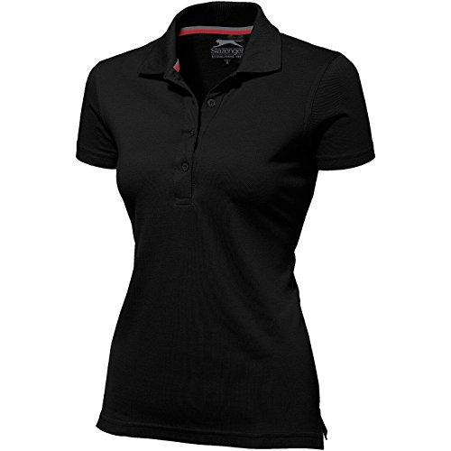 Slazenger Advantage Damen-Poloshirt, kurzärmlig - Schwarz, M