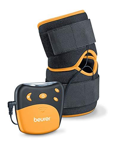 Beurer EM29 Electroestimulador para Rodilla sy codos 2 en 1, Negro, 4 Programa sEntrenamiento, Cinta...