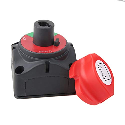 Mouchao 12V/24V Marine Removable Batteries Isolatoe Cut Off Kill Switch On Off Marine Battery Switch
