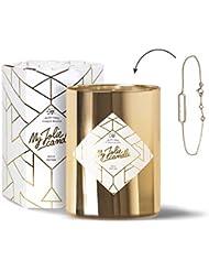 MY JOLIE CANDLE • Bougie Parfumée avec Bijou Surprise à l'Intérieur • Cadeau : Bracelet • Edition Gold • Cire Naturelle 100% Végétale