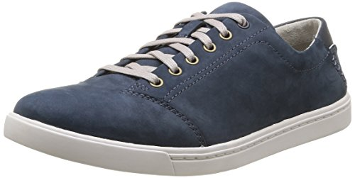 Clarks Newood Street, Baskets homme - Bleu (Denim Blue Nbk), 45 EU (10.5 UK)