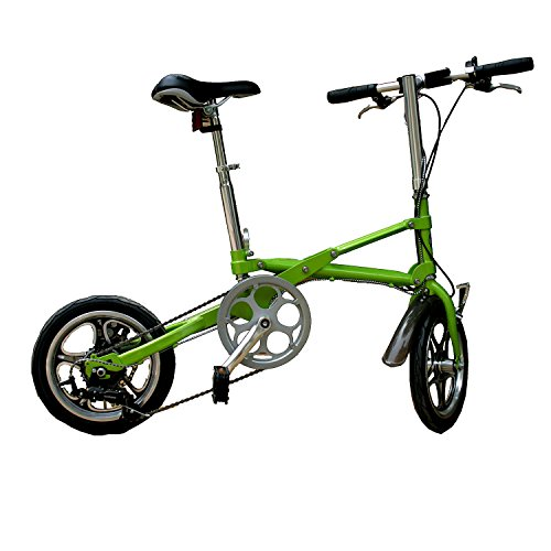 AdraXx Super Folding Bike For City And Vacations With 7 Speed Gears (Green)