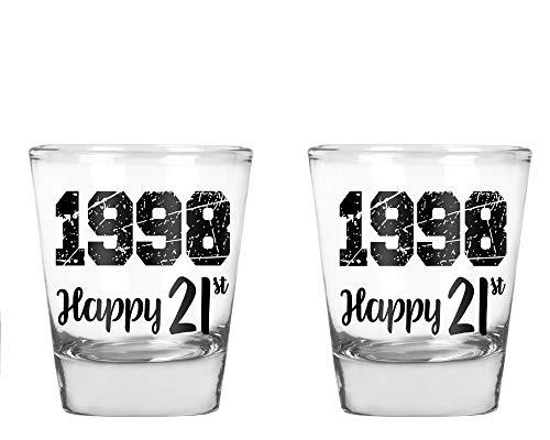 1997Happy Birthday-Funny 21. Geburtstag Geschenk-1,75Oz Shot Glas farblos (Shot Geburtstag Glas 21.)