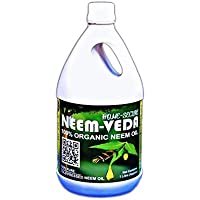 Neem-Veda 100% Pure Organic Neem Oil for Plant Protection, Insect Control, Fungi Control, Disinfectant. 1 LTR Pack