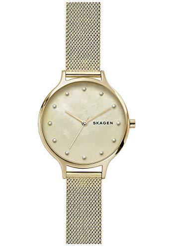 Skagen Damen Analog Quarz Uhr mit Edelstahl Armband SKW2774