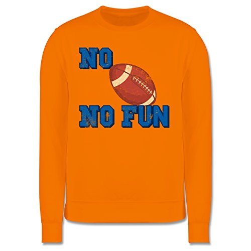 Sonstige Sportarten - No Football no Fun Vintage - Herren Premium Pullover Orange