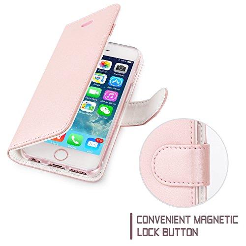 iPhone 6S Plus Coque, Coque iPhone 6 Plus, Fyy® [Séries Haut de gamme] Étui en cuir de première qualité avec Coverture Toute-Puissante pour iPhone 6 Plus/6S Plus (5.5 pouces) Motif 63 A-Rose