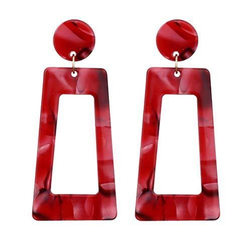 Nncande Doppelter Abschnitt Earrings - Runde - Rechteckige Acetat Platte Ohrstecker Persönlichkeit Kreative Geometrie Lange Leiterförmig Quadrat Ohrringe Damen Schmuck Wild Mit Kleid Shirt Kosmetik