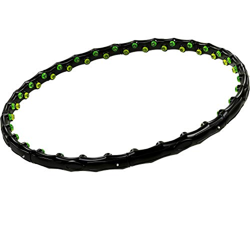 MOVIT® Hip Hoop Hula Hoop Reifen, Massagenoppen und Magnete, 3 Varianten: 0,9 / 1,3 / 1,7 kg, 3 Jahre Garantie
