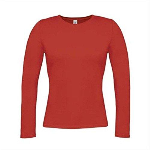 T-Shirt Women-Only Longsleeve Deep Red