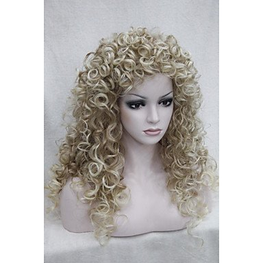 HJL-fraise sexy m¨¦lange blond pointe de clou blonds boucl¨¦s perruque quotidienne 5377 27t613'S 22 \\