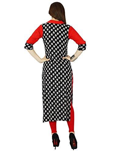 Bimba - Camicia - Maniche corte -  donna nero e rosso