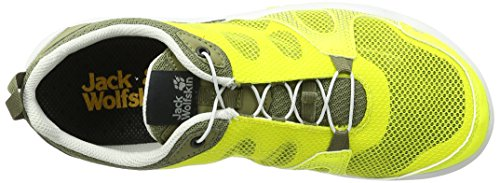 Jack Wolfskin - Monterey Air Low M, Scarpe sportive outdoor Uomo Giallo (Flashing Green)