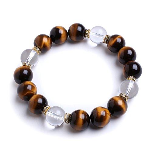 12mm-natural-tiger-eye-clear-quartz-semi-precious-stone-elastic-beaded-bracelet-for-7-85-inch-wrist-