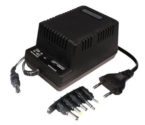 Transmedia Netzteil 1200 mA GS mit DC-Einzelstecker 230V / 3 / 4.5 / 6 / 7.5 / 9 / 12V NT4HGSL