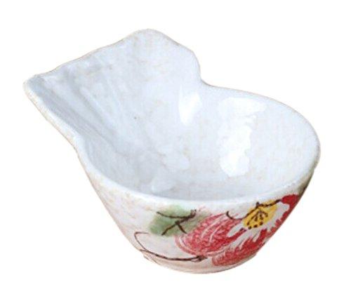 Set von 3 Creative Shape Sauce Desserts & Dessertschale [White & Rose] Japan China White Rose