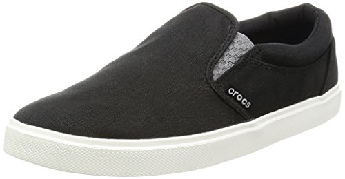 Crocs Citilnslpsnkrm, Mocassini Uomo, Nero (Black/White), 46-47 EU