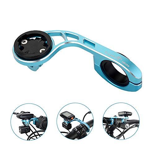 TrustFire Fahrrad Halterung GPS Fahrradcomputer Lenkerhalterung Radfahren Halter für Sport Kamera Go Pro Garmin Edge, Bryton - Blau