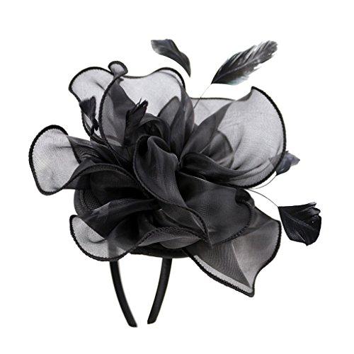 Hut Blume Fascinator Hut Haarschmuck Hut - Schwarz (Hüte & Fascinators Online)