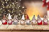 Set da 4 Oppure 8 Simpatici Folletti di Natale. Decorazione Natalizia. Idea Regalo Natale. Gnomi Folletti scandinavi Altezza cm 20 (8 Folletti)