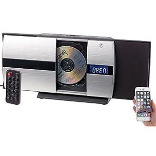 auvisio CD Player: Vertikale Stereoanlage mit Bluetooth, CD, MP3, Radio, AUX, NFC, 20 W (CD Player mit Radio)