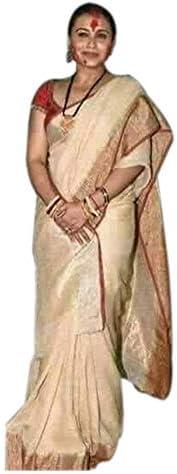 Abito di Tela di Design Saree Indiano Festa Festa Festa Etnica delle Donne Indossare Abito Beige Sari Modello Solido | Miglior Prezzo  | Export  996f4f