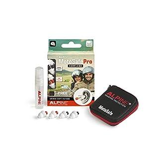 Alpine MotoSafe Pro Gehörschutzstöpsel - Renn- und Touringstöpsel - Verhindern Gehörschäden vom Motorradfahren - Verkehr noch hörbar - Bequemeshypoallergenes Material - Wiederverwendbar