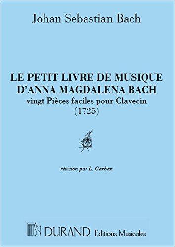 Petit livre d'Anna Magdalena Bach - Clavecin