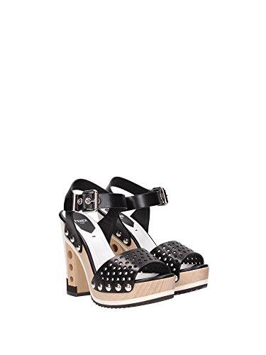 8X47721R2F0ABB Fendi Sandale Femme Cuir Noir Noir