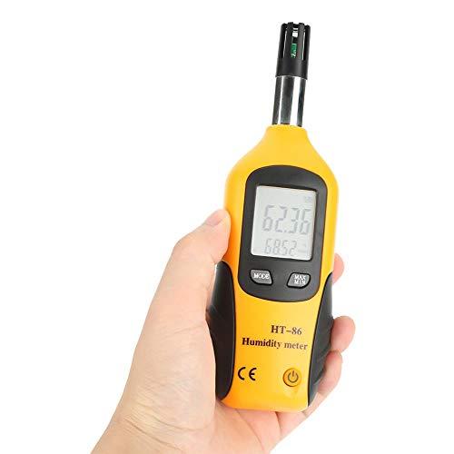 Nannday Digitales Feuchte und Temperaturmessgerät, Hygrometer Feuchtmittel/Taupunkttemperaturmessgerät Taupunktmessgerät