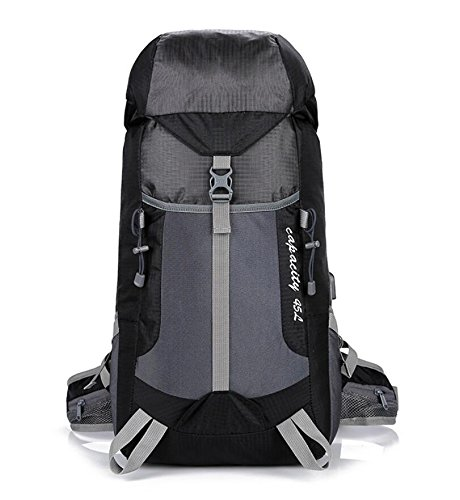 ZHANGOR Mountaineering Backpack Travel Backpack Waterproof Outdoor Sports Backpack With USB Port Camping Fishing Tourism Riding Ski, Black