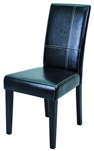 Schwarzen Stühlen (demeyere Guevara Stühle-Set, Kiefer, Dark Braun/schwarz, 45x55.5x94 cm (BxTxH))