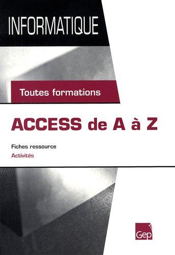 Access de A à Z : Toutes formations