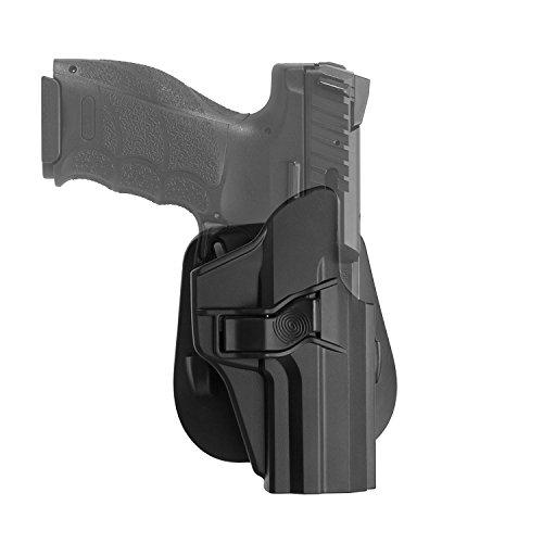 efluky H&K USP 9mm/.40 Full Size, Paddle Auslöser Einstellbarer Neigungswinkel für H&K USP 9mm.40 - OWB Polymer Injection - Schwarz (hk USP) -