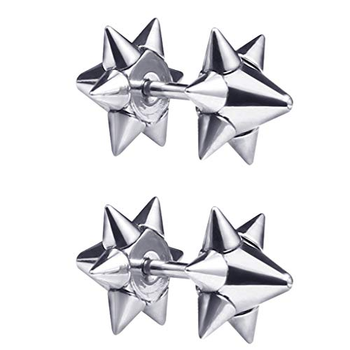 fish 1Pc Frauen Männer Erwachsene Titan Stahl Spitzen-Ohr-Bolzen-Halloween Hip Hop Punk Piercings Ohrring (Spike-bolzen-ohrringe Frauen Für)