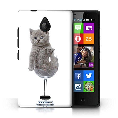 Kobalt® Imprimé Etui / Coque pour Nokia X2 Dual Sim / Jardin conception / Série Chatons mignons Verre de vin