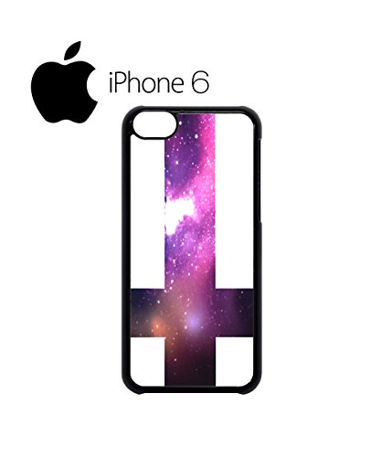 Inverted Cross Galaxy Tumblr Swag Mobile Phone Case Back Cover Coque Housse Etui Noir Blanc pour iPhone 6 White Noir