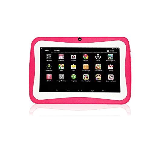 SO-buts Android 4.4 KitKat Tablet,7-Zoll Quad-Core Tablet,Maximaler erweiterter Speicher 32 GB,HD-Display Dual-Kamera WiFi Bluetooth Geeignet für Kinder, (Rosa1)