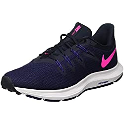 Nike Wmns Quest, Zapatillas de Running para Mujer, Azul (Dark Obsidian/Pink Blast/Deep 400), 38.5 EU