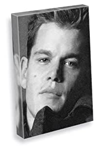 MATT DAMON - Canvas Print (A4 - Signed by the Artist) #js001