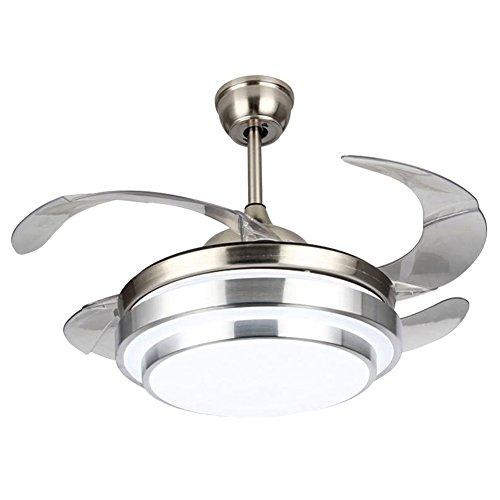 Lampada da soffitto moderna da 42 pollici con kit luce a led con telecomando per sala da pranzo lampada da soffitto con ventilatore per ristorante, sala studio, soggiorno, camera da letto