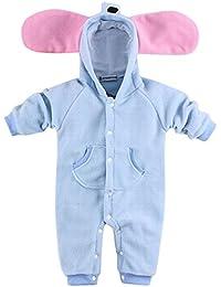 Happy Cherry Nuevo Mono Disfraz de Animal Ropa de Una Pieza Pelele Body Pijama con Capucha para Bebé Niño Niña Baby Romper Diseño Conejito/Cebra/Jirafa/Elefantito a Elegir