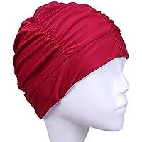 Gorra de natación, gorra de natación para mujer, estilo turbante, gorra de natación