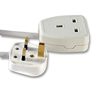 Ex-Pro 1 Gang Way 15m Metre 13A Mains Power Extension Socket Lead Cable White