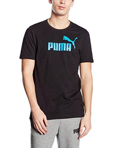 "Puma - T-shirt da uomo ""Essential n° 1 Tee"", con logo del marchio, rif. 83185414, Uomo, T-Shirt Ess No.1 Logo Tee Nero - nero"