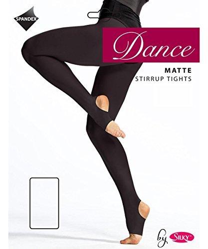 Silky Girls Matte Stirrup Dance Tights - Black Age 11-13