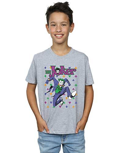 DC Comics Niños Batman Joker Cards Jump Camiseta Deporte Gris 5-6 Years
