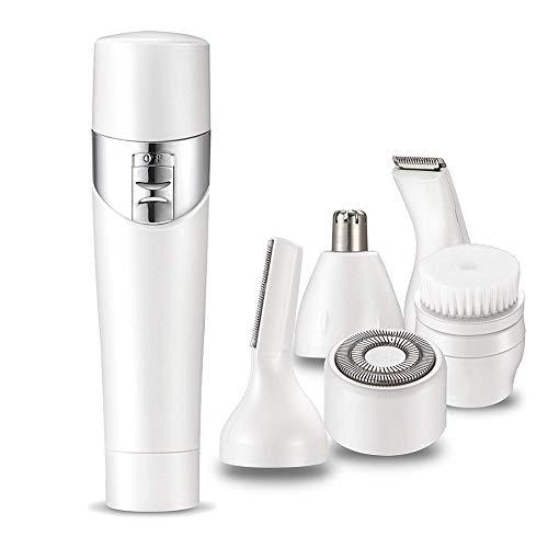 JFRYJ Epilierer, Rasierapparat für das Gesicht, Augenbrauen-Bikini-Trimmer, wiederaufladbares 5-in-1-USB-Beauty-Kit für die Reise, schmerzfrei, nass und trocken