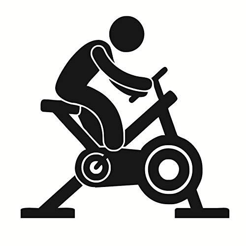 jiushizq Hohe Qualität Spin Bike Wandtattoos Vinyl Aufkleber Aufkleber Wandbild Kunst Gym Center Kreative Abnehmbare wasserdichteWohnkulturM44 cm X 42 cm